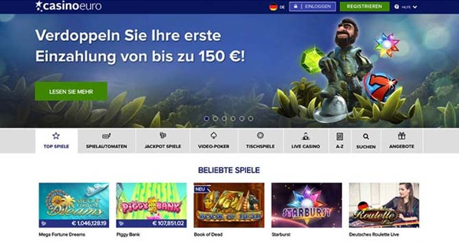 casinoeuro screenshot