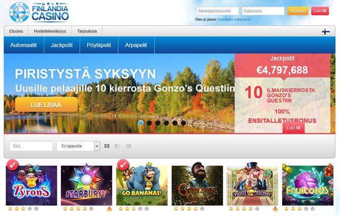 finlandia casino screenshot